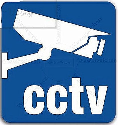 Sticker-Designs 25cm! Aufkleber-Folie Wetterfest Made IN Germany CCTV Security Video Camera Protect Home B101 Jahre haltbar UV&Waschanlagenfest Auto-Vinyl-Sticker Decal ProfiQualität Home-security-sticker