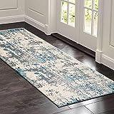 Teppich Läufer Flur küchenläufer Waschbare rutschfest grau Geometrische Muster, Badteppich Flurläufer Teppich Flur läufer Met