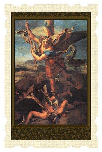 Religious Gifts katholischen Schutzpatron Michael mit Demon Heiligen Gebet Karte, 10,2cm
