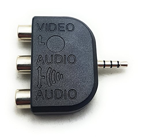 MainCore 4 Pole 3,5 mm Klinke zu Triple-3 X Phono RCA Adapter Composite Video AV Out TV. 3 X Video