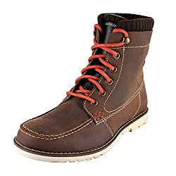 Urban Country Mens Brown Leather Boots (UCFWMC4085) - 11 UK