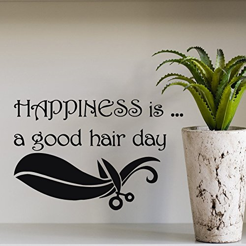 happiness-is-a-good-hair-day-removable-vinyl-wall-lettering-stickers-quotes-and-sayings-home-art-dec