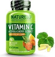 NATURELO Premium Vitamin C with Organic Acerola Cherry and Citrus Bioflavonoids - Whole Food Powder Supplement - Not Synthet