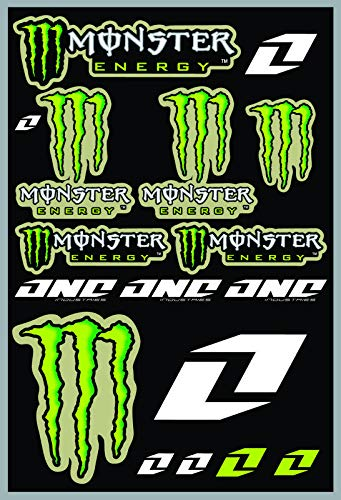 KIT STICKERS ADESIVI MONSTER SPONSOR MOTO HONDA YAMAHA KTM CROSS ENDURO CASCO (45)