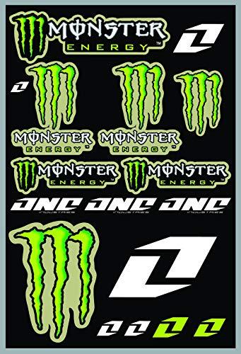 KIT STICKERS ADESIVI MONSTER SPONSOR MOTO HONDA YAMAHA KTM CROSS ENDURO CASCO (45)