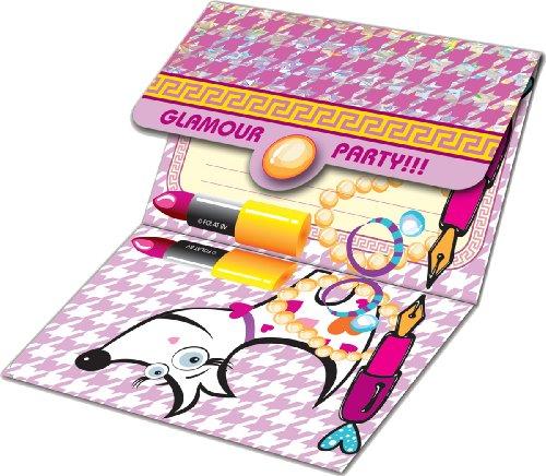 16-teiliges Einladungs-Set * Glam Girls * für