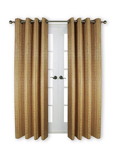 """Versailles Home Fashions Versalles casa Modas bpu144884–9Madera de bambú Cortina con Ojales, 48""""x 84,"""" 09Teca"""
