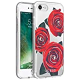 Guess GUHCI8ROSTR Hard Case for iPhone 8/7 - Clear/Red