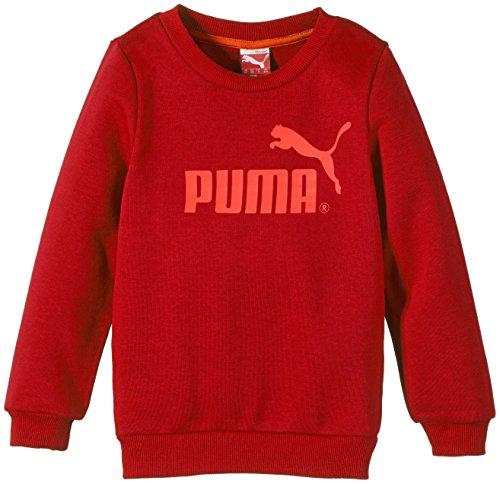 Puma-Felpa girocollo con logo n. 1, Ragazzi, Sweatshirt No.1 Logo Crew Sweat, Red - Biking Red, 9 anni