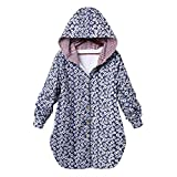 Quaan-Frau Kleider Womens Winter Warm Outwear, floral Print Plaid Hooded Pockets Oversize Coats