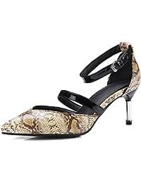 Chaussures femmes sandales serpents OPTIQUES Escarpins noir CIxYAqx