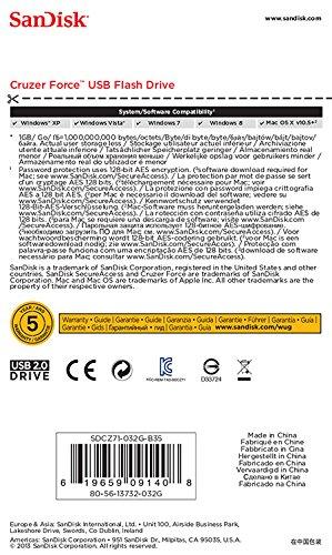 Sandisk Cruzer Force SDCZ71-032G-B35 32GB Flash Drive