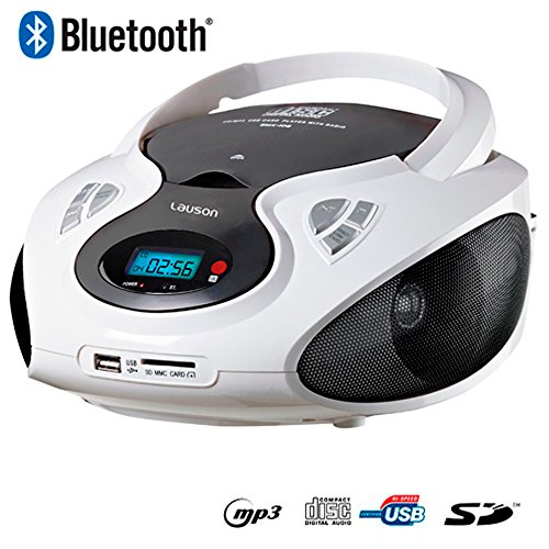 Lauson CP440 Radio CD/MP3 Bluetooth Port USB Boombox tragbar am/fm Kartenslot CD-Player
