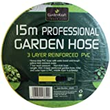 Benross GardenKraft 13850 Tuyau d'arrosage en PCV renforcé 3 couches 15m