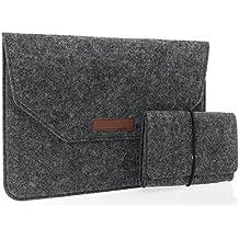 Babotech® 11 / 12 Zoll Macbook und Macbook Air, Filz Sleeve Hülle Ultrabook Laptop Tasche Farbe: dunkelgrau