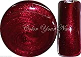 Color Your Nails:5 ml UV Farbgel Spezial Bordeaux-Rot (FGGN66).Hochdeckend