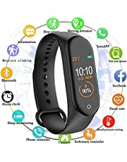 SBA999 AM_4 Intelligent Smart Waterproof Activity Tracker | Fitness Band Compatible to Xiaomi/Oppo/Vivo Mobile Phones Steps, Calorie Counter, BP, Heart Rate Monitor Music, Camera Controller