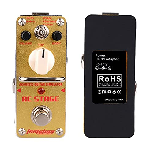 Electronic Guitar Effect Pedal, Simulators for 3 Kinds of Acoustic
