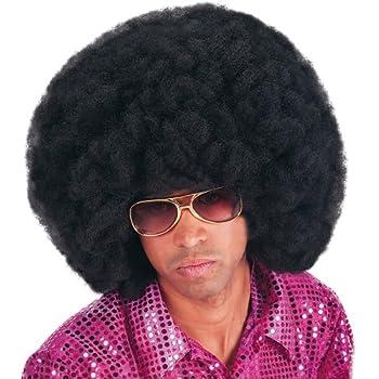 Pink Balinco Afro Parrucca riccioli Nera afroamericana Nera XXL Uomini Donne Carnevale