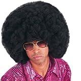 Carnival 2971 - Parrucca Africa Nera in Busta, diametro 40 cm., occhiali esclusi