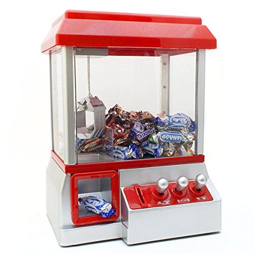 Goods & Gadgets Candy Grabber Süßigkeitenautomat Süßigkeiten Greifautomat Greifer Spielautomat rot