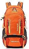 iLoveSIA 50L Damen Wanderrucksack Reiserucksack Multifunktionsrucksack mit Regenabdeckung orange