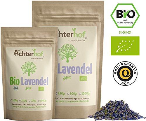 Lavendelblüten Bio Lavendel getrocknet (250g) aus Frankreich als Bio-Lavendel-Tee oder Gewürz vom-Achterhof