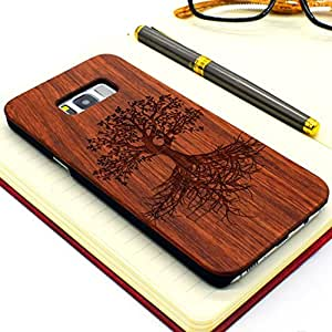 Cover Galaxy S8 Plus,Custodia in legno Samsung S8 Plus, Nature Series Custodia in legno sottile per Samsung Galaxy S8 Plus(6.2 Pollici)(Tree)