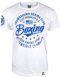 Boxing T-shirt. Thumbs Down Boxing Club. East Brooklyn US. Hard Knocks Camp. Heavyweight Champion. Boxe Martial Arts. MMA T-shirt