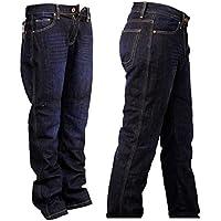 Herren DuPont™ KEVLAR® Motorrad Jeans Hose Motorradjeans mit 4x Protektoren (Blau)