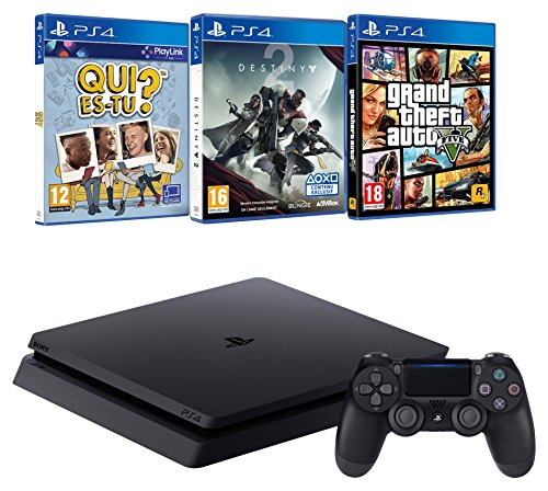 Pack PS4  + Destiny 2 + GTA V + Qui es-tu?