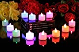 SwankyTM Home Decor Led Light Multi Color Dia Deepak Lamp for Diwali Decoration Pooja 12 Diwali Diya LED Colour Changing Tealights