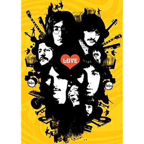 The Beatles – Yellow Love grafica – Quadro – A4 – stampa poster art