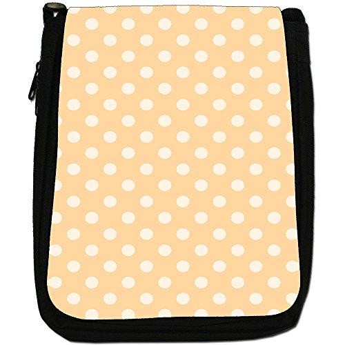 Fancy A Snuggle, Borsa a spalla donna Pastel Orange Polka Dots