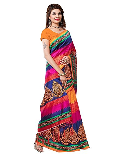 Sarees (Women's Clothing Saree For Women Latest Design Wear Sarees New Collection in Orange Coloured Georgette Material Latest Saree With Designer Blouse Free Size Beautiful Bollywood Saree For Women Party Wear Offer Designer Sarees With Blouse Piece Buy Online Today Holi Special Offers Sale Sarees below 500)  available at amazon for Rs.250
