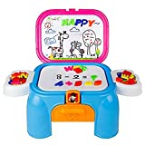 Deluxe Imparare Desk Playset Lavagna Magnetica con Lettere e Numeri per Bambini di 3 Anni