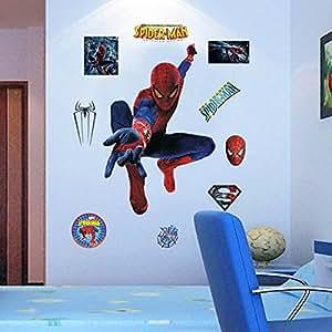 gro e amazing spiderman jungen 3d wandsticker vinyl f r. Black Bedroom Furniture Sets. Home Design Ideas