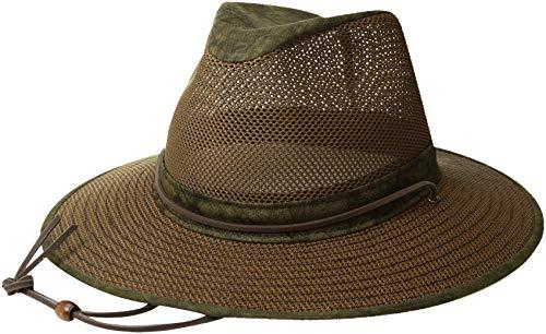 Henschel Hüte Aussie Breezer Hat, Herren, grün / gelb (Aussie-hut)