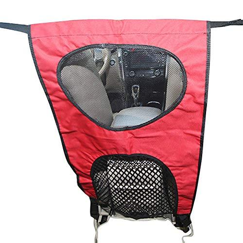 Selotrot Dog Barrier Haustier Hund Auto Barriere Sitz Netz Hindernis Tuch Hunde Rücksitz Barrieren zu Halten Driver Sicher - Rot -