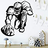 sanzangtang DIY Rugby wandaufkleber Haus Dekoration kinderzimmer natürliche dekorative wandtattoos Dekoration 36 cm X 38.4 cm