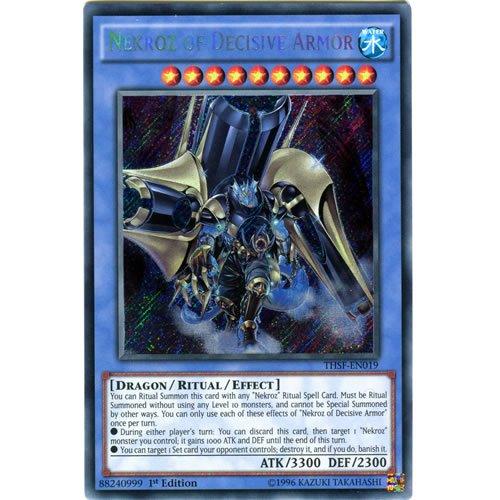 YuGiOh : THSF-EN019 Unlimited Ed Nekroz of Decisive Armor Secret Rare Card - ( The Secret Forces Yu-Gi-Oh! Single Card )