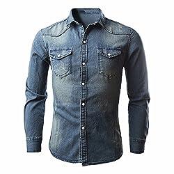 Cebbay Camisa de Mezclilla...