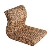 ALKRQE Rattan Gras Rückenlehne Sitz und Zimmer Stuhl Bett Erker Fenster Sitz Lazy Chair niedrigen Stuhl Stuhl Beinlose Sofa