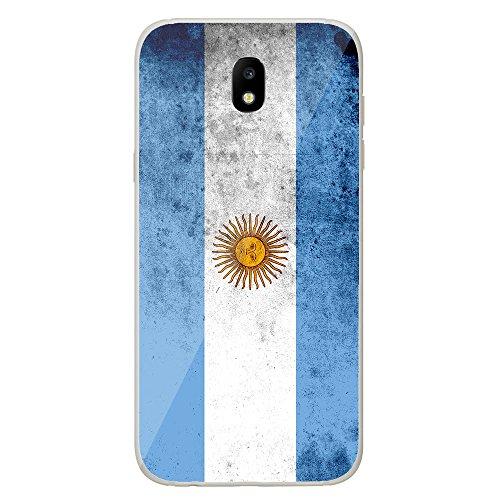 Housse Coque Etui Samsung Galaxy J5 2017 silicone gel Protection arrière - Drapeau Argentine