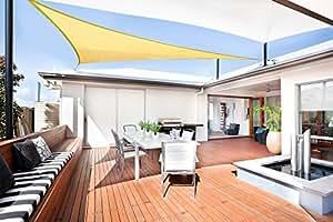SUNLAX Tenda a vela triangolare 3 x 3 x 3 metri, impermeabile e resistente, per spazi all'aperto, Color Sabbia