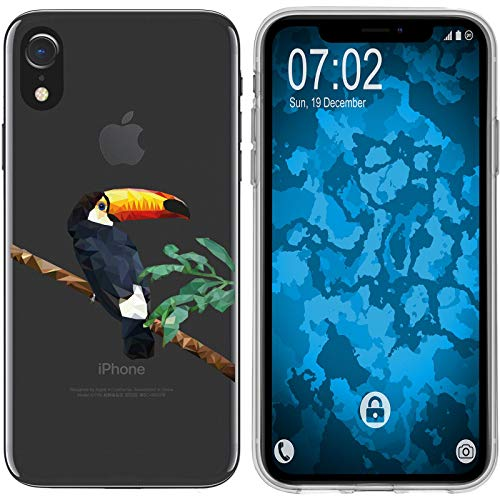 PhoneNatic Case kompatibel mit Apple iPhone Xr Silikon-Hülle Vektor Tiere Tucan M5