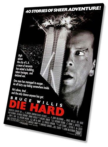 Die Hard Film Movie Poster Auf Leinwand, gerahmt Print 50,8x 76,2cm