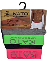 Mens Trunks Neon Band Kato Shorts Underwear Pack Of 2