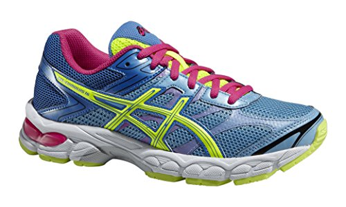ASICS Gel-Cumulus 16 GS, Chaussures Multisport Outdoor Mixte enfant Bleu (Soft Blue/Flash.Yellow/Powder Blue 4107)