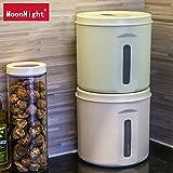 Pet Storage box–potente sigillato Dog Food barile umidità conservazione secchiello cibo per gatti Barrel Storage Tank box protezione ambientale, Green, large